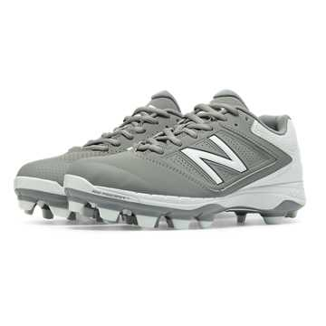 New Balance Low Cut 4040v1 Plastic Cleat, Grey with White