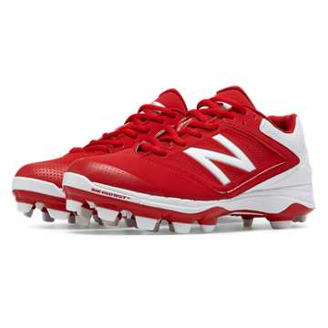 New Balance Low Cut 4040v1 Plastic Cleat, Red with White