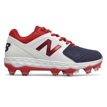 Low-Cut Velo1 Plastic Cleat, Red with White