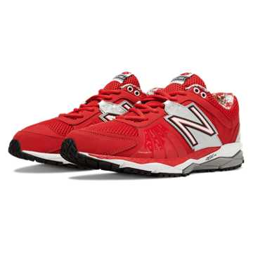 New Balance Turf 1000v2, Red with Silver