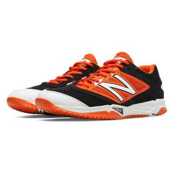 New Balance Turf 4040v3 Synthetic Mesh, Black with Orange