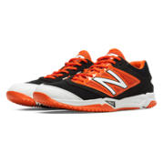 Turf 4040v3 Synthetic Mesh, Black with Orange