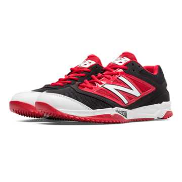 New Balance Turf 4040v3 Synthetic Mesh, Black with Red