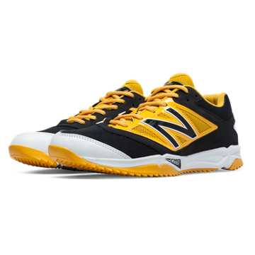 New Balance Turf 4040v3 Synthetic Mesh, Black with Yellow