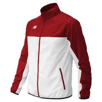 Men's Athletics Warmup Jacket, Team Cardinal