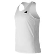 Men's Athletics Singlet, White