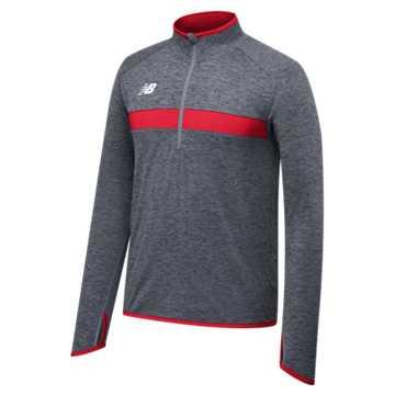 Men's Athletics Half Zip, Team Red