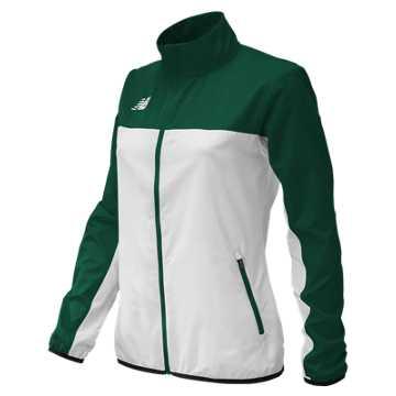 Women's Athletics Warmup Jacket, Dark Green