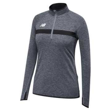 Women's Athletics Half Zip, Team Black