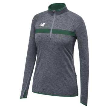 Women's Athletics Half Zip, Team Dark Green