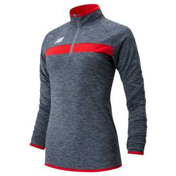 Women's Athletics Half Zip, Team Red