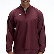 High Heat Half Zip Jacket, Team Maroon