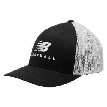 New Balance Baseball Hero Cap, Black with White