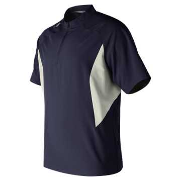 New Balance Short Sleeve Ace Baseball Jacket, Team Navy