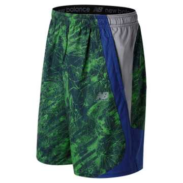 New Balance LAX Freeze Printed Short, Green with Atlantic