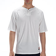 Two Button Jersey, White