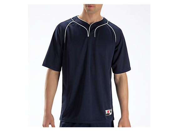 Two Button Jersey, Navy
