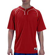 Two Button Jersey, Red