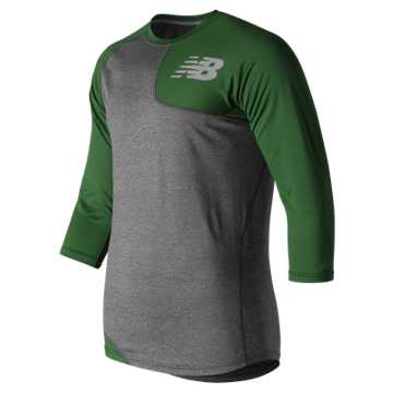 Baseball Asym Base Layer Left, Team Dark Green