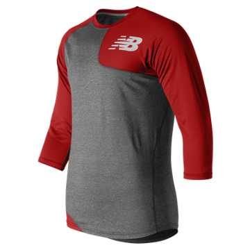 Baseball Asym Base Layer Left, Sedona Red