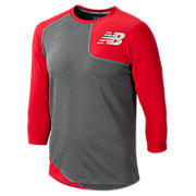 Baseball Asym Base Layer Left, Team Red