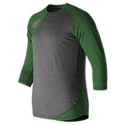Baseball Asym Base Layer Right, Team Dark Green