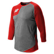 Baseball Asym Base Layer Right, Sedona Red