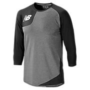Baseball Asym Base Layer Right, Team Black