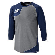Baseball Asym Base Layer Right, Team Navy
