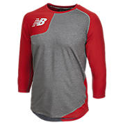 Baseball Asym Base Layer Right, Team Red