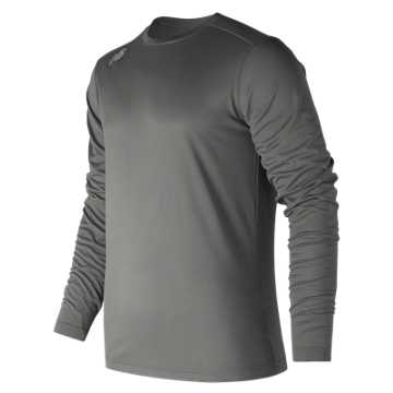 Men's Long Sleeve Tech Tee, Dark Heather Grey