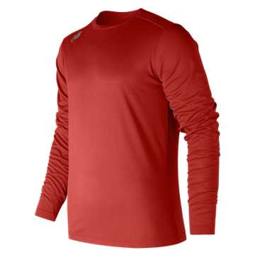 Men's Long Sleeve Tech Tee, Sedona Red