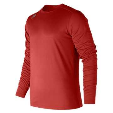 Men's Long Sleeve Tech Tee, Sedona Red