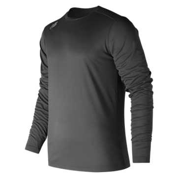 Men's Long Sleeve Tech Tee, Team Black