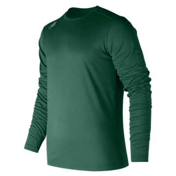 Men's Long Sleeve Tech Tee, Team Dark Green