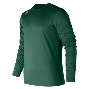 Men's Long Sleeve Tech Tee, Team Dark Green
