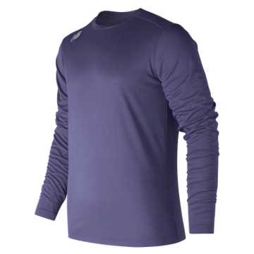 Men's Long Sleeve Tech Tee, Team Navy