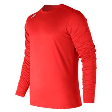 Men's Long Sleeve Tech Tee, Team Red