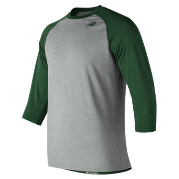 Men's Baseball Raglan Top, Team Dark Green
