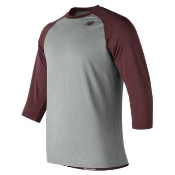 Men's Baseball Raglan Top, Team Maroon