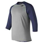 Men's Baseball Raglan Top, Team Navy
