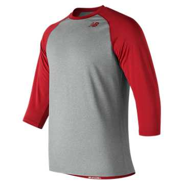 Men's Baseball Raglan Top, Team Red