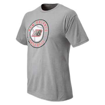 New Balance Circle Baseball Tee, Athletic Grey