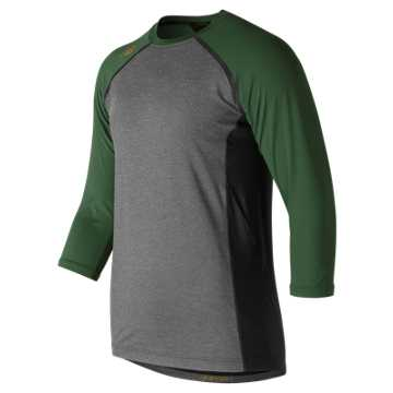 4040 Baseball Top, Team Dark Green
