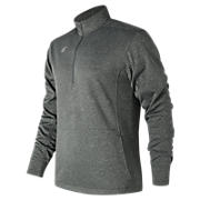 NB Half Zip, Dark Heather Grey