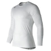 NB LS Compression Top, White