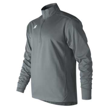 Men's Lightweight Solid Half Zip, Gunmetal