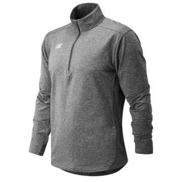 Men's Lightweight Solid Half Zip, Heather Grey