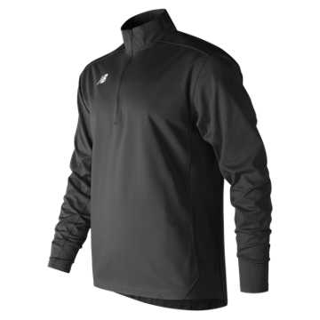 Men's Lightweight Solid Half Zip, Team Black
