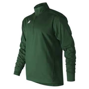 Men's Lightweight Solid Half Zip, Team Dark Green